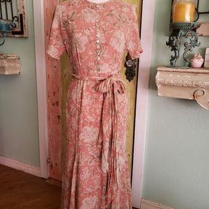 Dana Buchman silk floral maxi dress